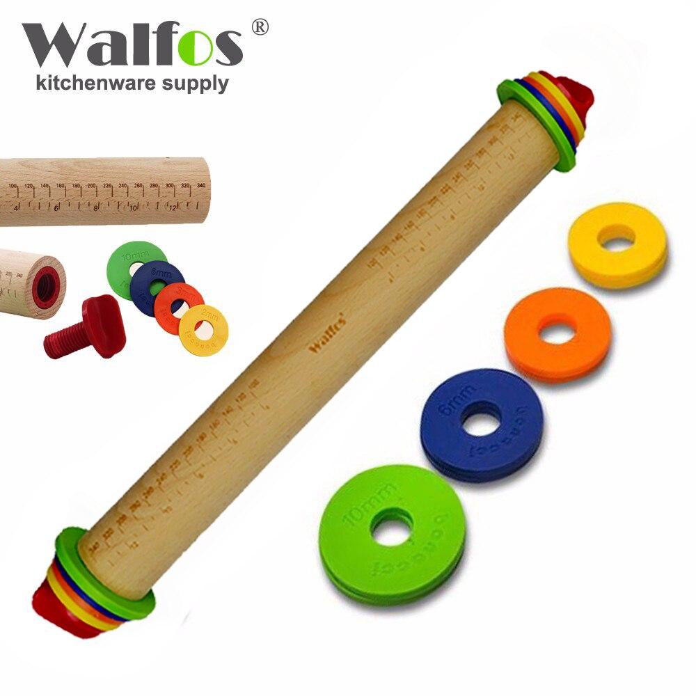 WALFOS food grade wood Rolling Pin Fondant Paste Cake Roller Cake Bakeware Tool wooden rolling pin