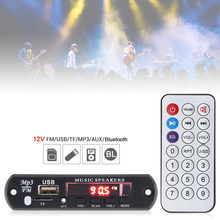 12V Car Audio Video Module Card Bluetooth MP3 Decoder Color Flash Screen Player USB SD AUX for DVD Players