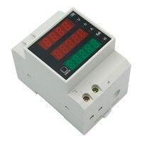 D52 2047 Multi display Rail Digital Current Voltmeter AC Voltage Power Meter Household