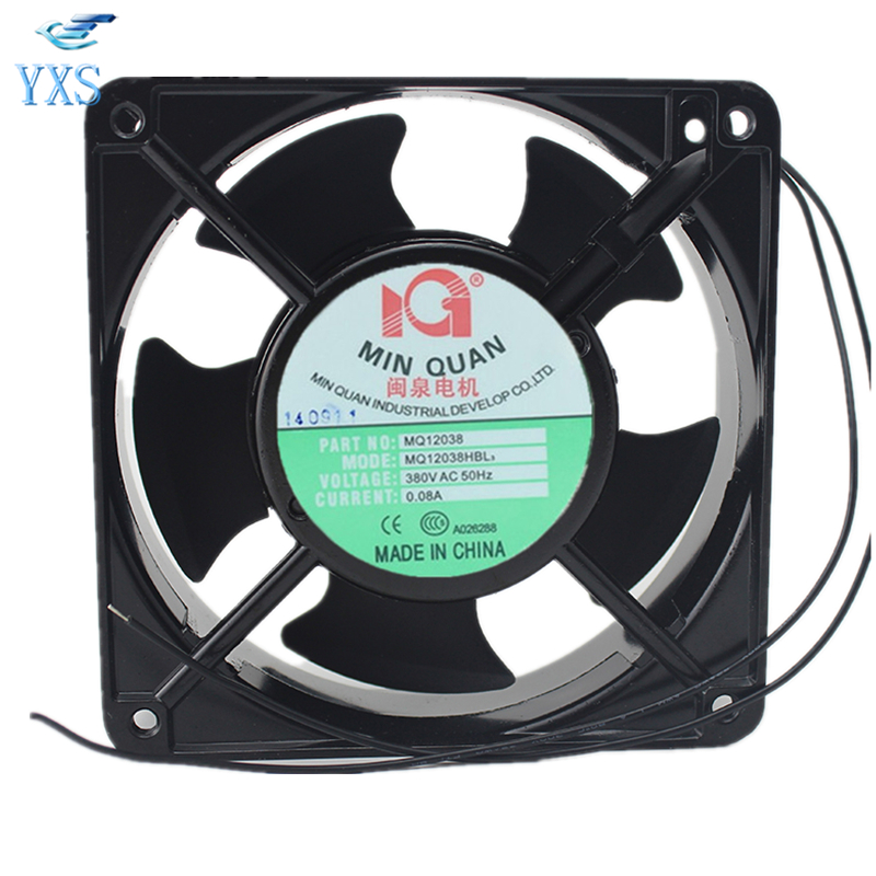MQ12038HBL3 AC 380V 0.08A 12038 12CM 120*120*38mm 50HZ 2500RPM 20W Double Ball Bearing Cabinet Cooling Fan sunon free shipping new original taiwan blower fan dp200a p n2123hsl 1238 12cm 12038 120 120 38mm 220v wire type