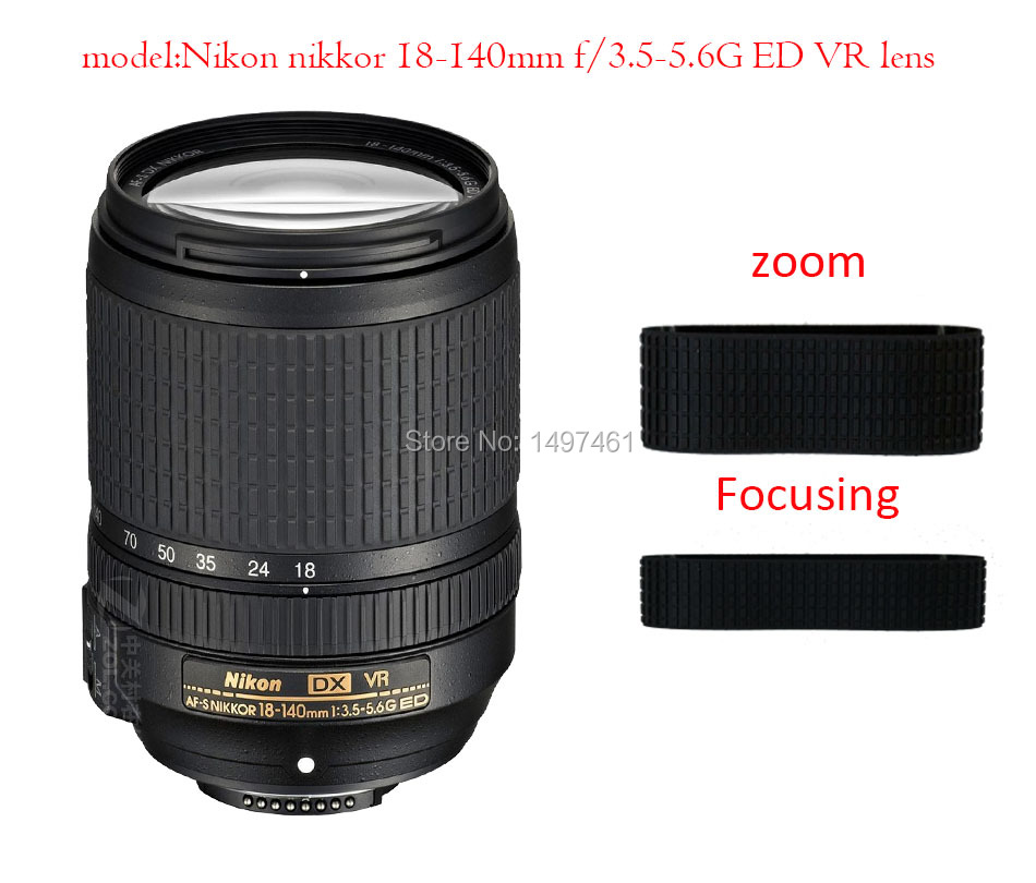 Lens Zoom and manual focus Rubber Ring/Rubber Grip Repair Succedaneum For Nikon nikkor 18-140mm f/3.5-5.6G ED VR lens