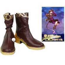 Dream Kingdom And The Sleeping 100 Prince Cheshire Cat Cosplay Boots Anime Shoes Custom Made