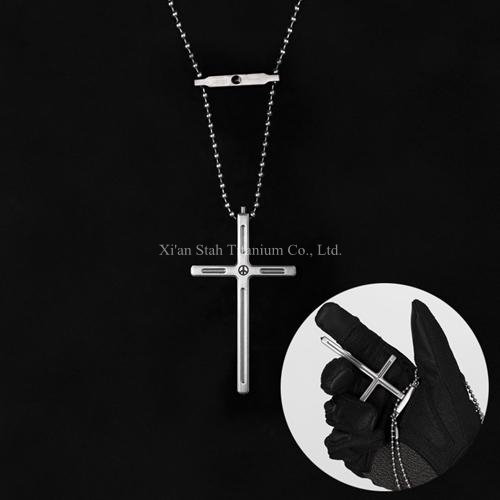 Titanium tc4 tactical cross pendant necklace with tungsten cusp end titanium tc4 tactical cross pendant necklace with tungsten cusp end for edc emmergency hammer personal aloadofball Image collections