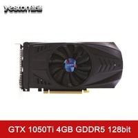 Yeston GeForce GTX 1050Ti Graphics Card 4GB GDDR5 7000MHz 128Bit With HDMI DVI DP Single Fans