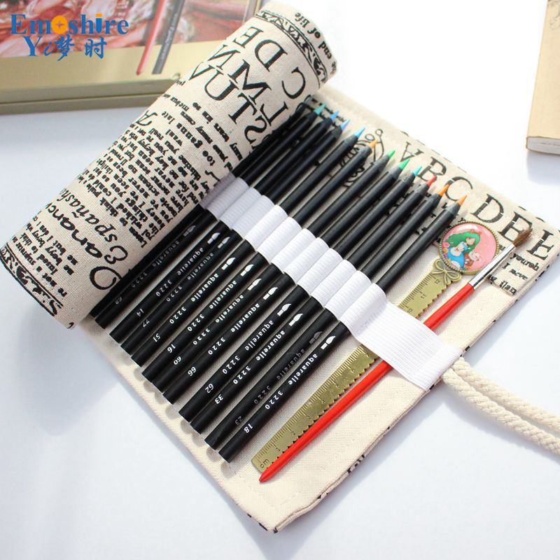 Cotton Canvas Large Capacity Handmade Pencils Pocket Students Pencils Case Men And Women Pencil Bag Stationery Case B067 220703 solid color small freshman canvas pencil bag simple stationery bag pencils men and women large capacity pencil case