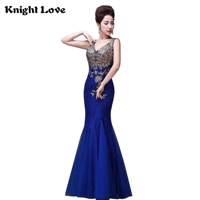 Bleu Long Cheongsam femmes chine Robe de soirée nouvelle dentelle chinoise Robe traditionnelle sans manches broderie Qipao robes de soirée Robe
