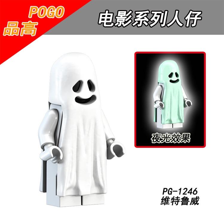 PG1245 PG1246 Vitrurius Ghost Luminous Ghost Soul Minifigured Building Blocks Figure Bricks Compatible With Bela