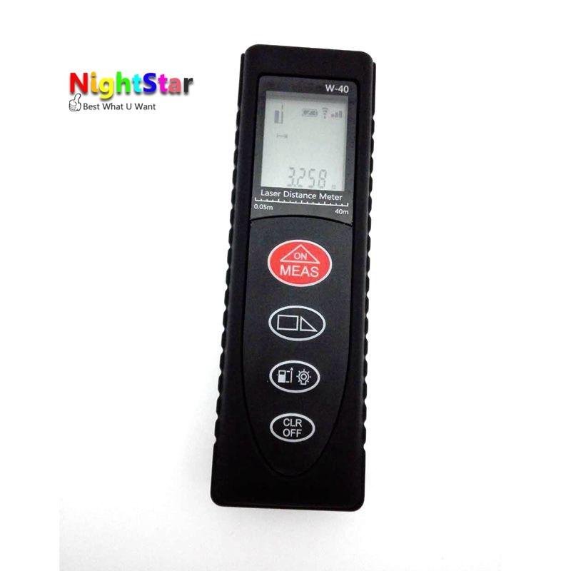40 м Мини Цифровая лазерный дальномер Клейкие ленты измерить площадь/объем инструмент/Цвет черный