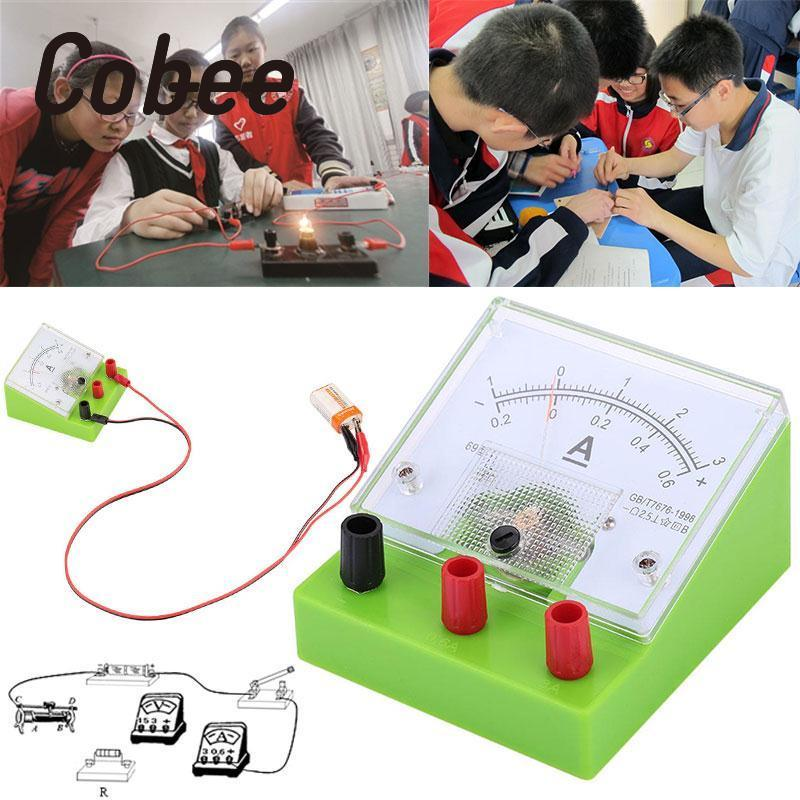 Cobee Pointer Ammeter 2.5 Range 3A Current Tester Meter Detection Panel Physics Teaching Tool School Supplies