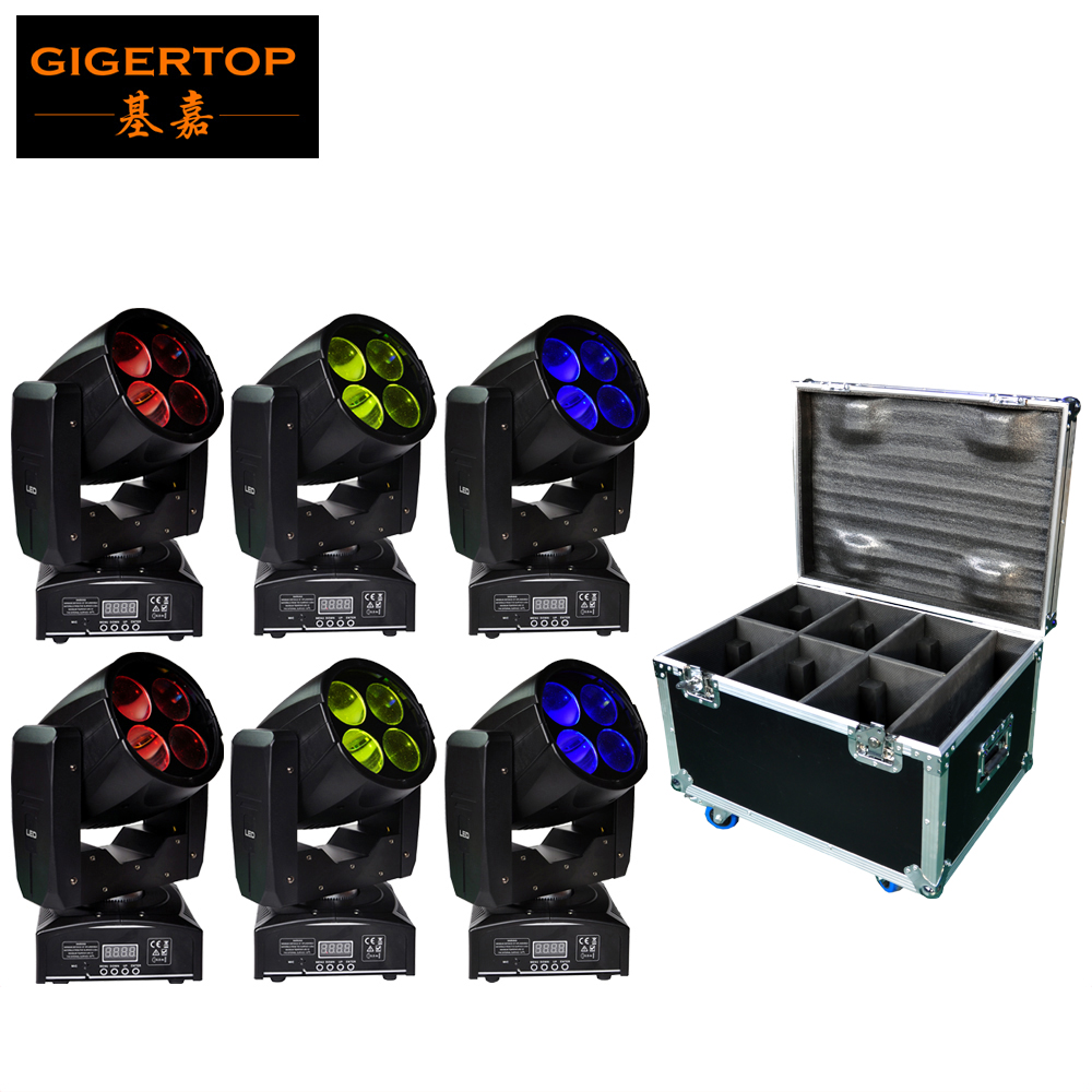 Flight Case Packing 6XLOT Mini Simple Led Super Beam Moving Head Light 4*10W White Color Leds Unlimited Rotate 3 Color Wheel mp620 mp622 mp625 projector color wheel mp620 mp622 mp625