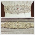 2016 New Fashion Handmade Noble crystal Bridal Ribbon belts White red Ivory Ribbon girdle for Women Wedding Dress Accessories