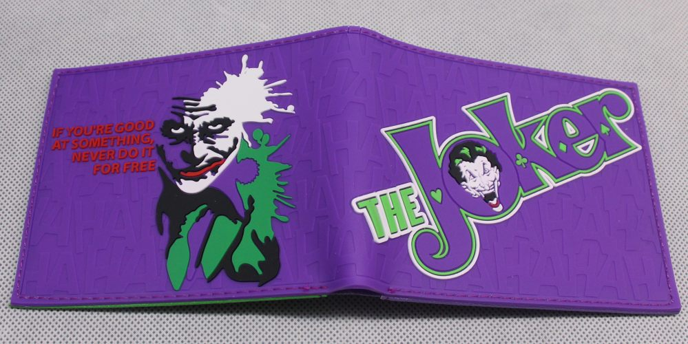 DC Batman The Joker Bifold Wallet Cartoon PVC Short Purse Card Photo Holder Wallets 4.5*3.6 inch Animados