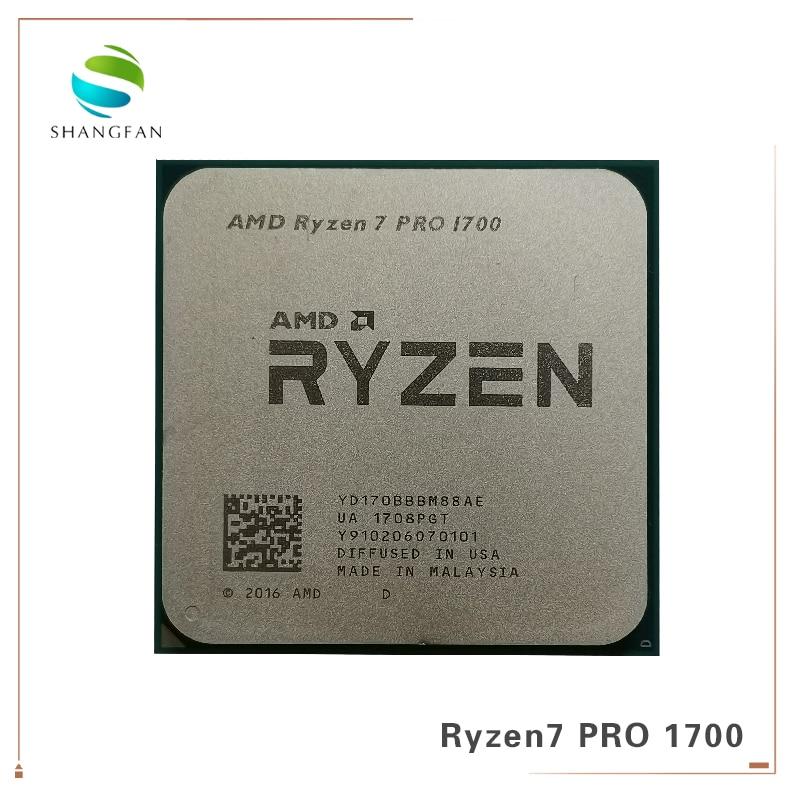 AMD Ryzen 7 PRO 1700 R7 PRO 1700 3.0 GHz Eight-Core Sixteen-Thread CPU Processor 65W YD170BBBM88AE Socket AM4