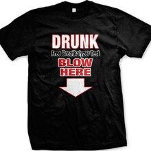 Free Breathalyzer Test Blow Here Down Arrow Sex Funny Mens T-shirt