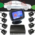 8 Rear Front View Car Parking Sensor 8 Sensors Reverse Backup Radar Kit System with Parking LCD Display Monitor Weatherproof