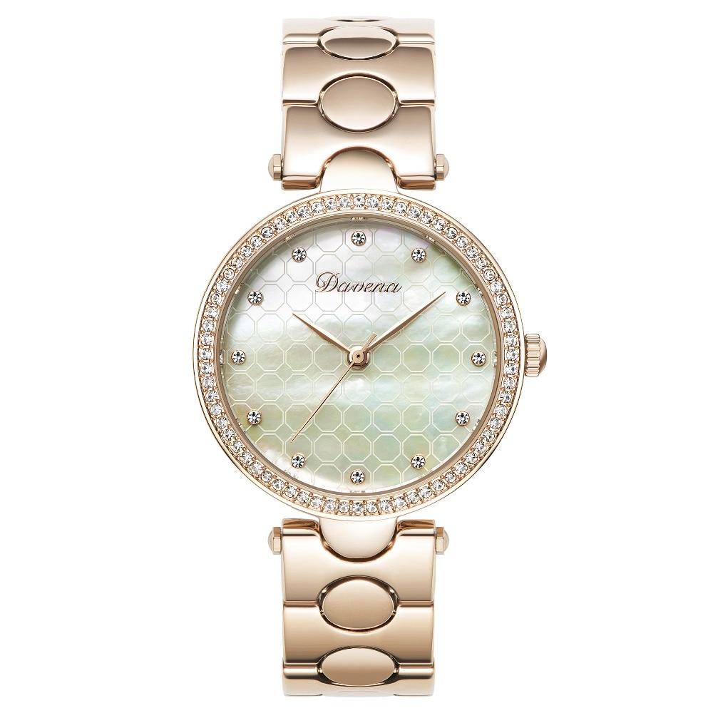 Matisse'a moda Austria kryształ Dial stali nierdzewnej Watchband potrójne okna Dial Lady kobiety Lady roboczych kwarcowy na rękę zegarki w Zegarki damskie od Zegarki na  Grupa 1