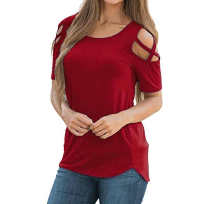 Hxroolrp для женщин; Большие размеры большой короткий рукав платье на бретелях с открытыми плечами футболка Топы из цельного полотна с вырезом; пуловер; одежда; 2019 F1