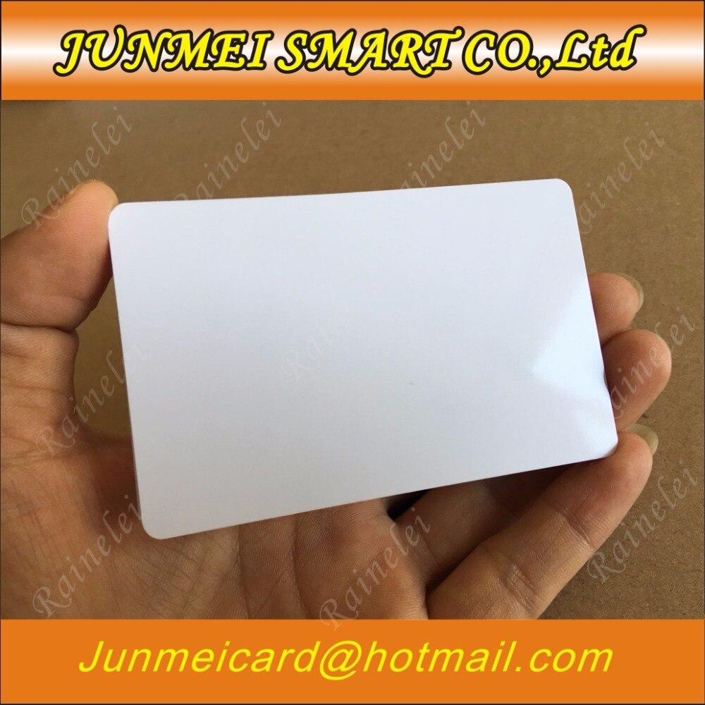 100 Blank Druckbare PVC Kunststoff Foto Id Weiß Kreditkarte Ohne Chip 30Mil CR80 Freies Verschiffen