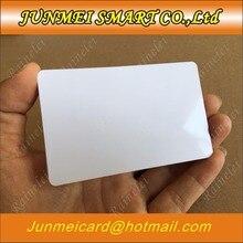 100 بطاقة إئتمان بيضاء قابلة للطباعة بولي فينيل كلوريد صور هوية بطاقة ائتمان بدون رقاقة 30Mil CR80 شحن مجاني