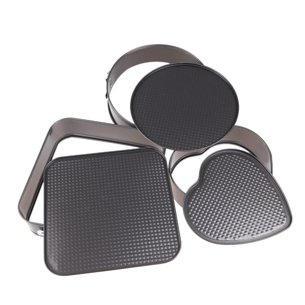 3 Piece Nonstick Springform Pan Set | One Square , One Round & One ...