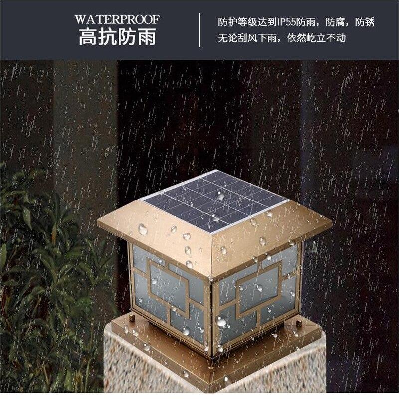 LED Zonne energie Wandlamp Solar Lamp Outdoor Tuin Lamp Voor Thuis Tuin Beveiliging Lamp wandlamp Waterdichte Pure koper - 2