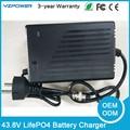 43.8 V 5.5A 4.5A 3.5A 4A 5A Carregador de Bateria Para 12 S 36 V 8Ah LifePO4 10Ah 12Ah lifepo4 Bateria