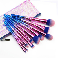 New Pro 10PCS Mermaid Makeup Brushes Set Eyebrow Eyeliner Blush Blending Foundation Cosmetic Beauty Make Up