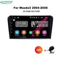 Funrover 9 ''안드로이드 8.0 자동차 라디오 테이프 기록 마즈다 3 Mazda3 2006 2007 2008 2009 2 기가바이트 RAM + 32 기가바이트 ROM