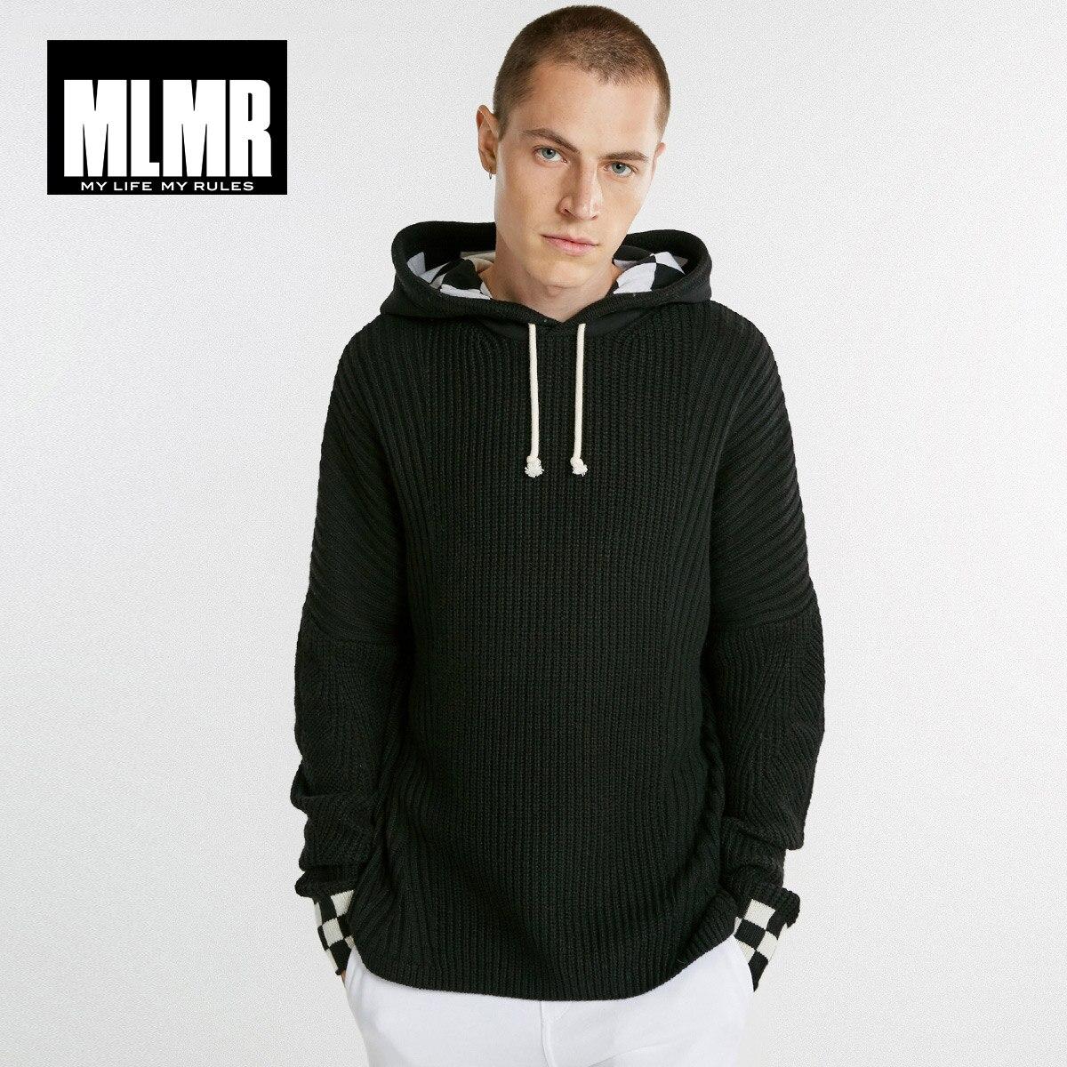 Erkek Kıyafeti'ten Kazaklar'de MLMR erkek Kapşonlu Kazak Kazak Örme Ceket JackJones Yeni Marka Erkek Giyim 218325506'da  Grup 1