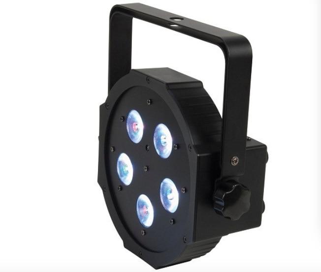 ФОТО 10pcs/lot, RGB LED Par 5x3W RGB 3in1 Flat par36 DJ bar led light dmx stage entertainment lighting equipment