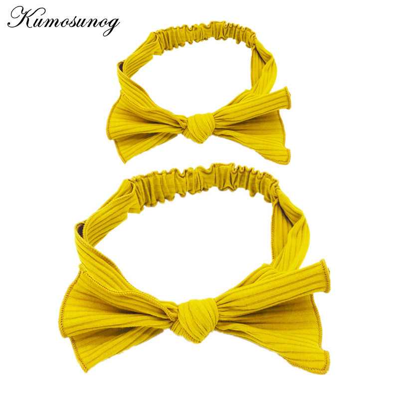 INS Mom and Me Headband Cute Bowknot Knitted Headwears Mother Daughter Matching Outfits Family Look Girls Hair Accessories H0829