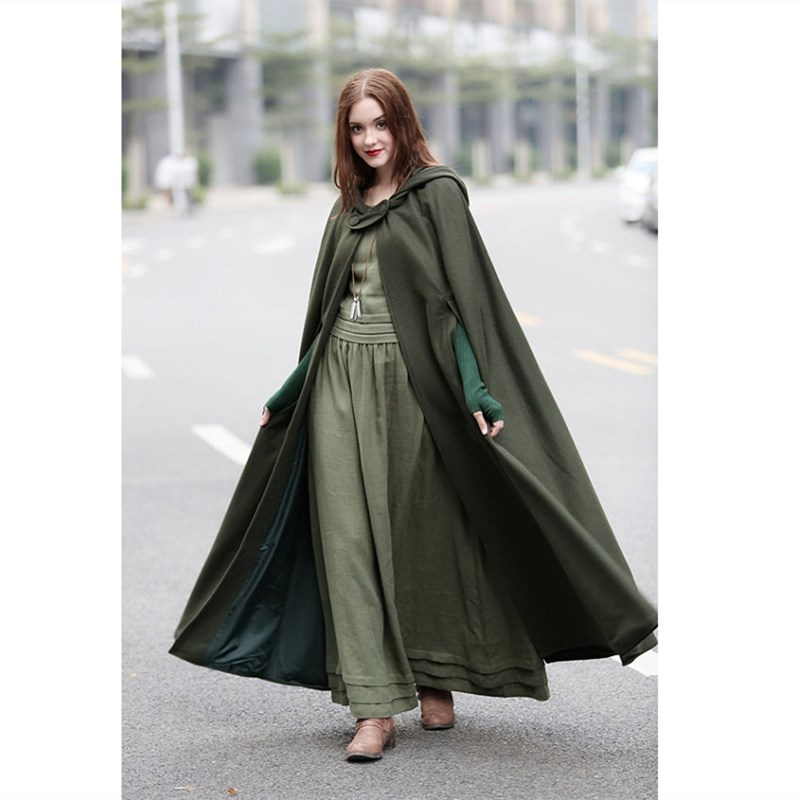 Hooded Cape Clothes Design Fashion
