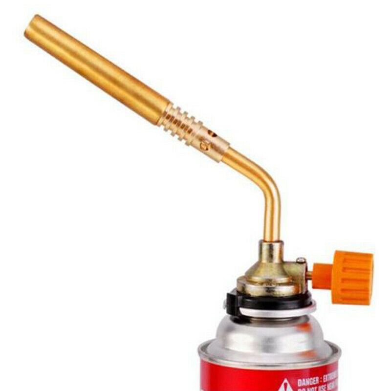 New Arrival  Flamethrower Burner Butane Gas Blowtorch Hand Ignition Camping Sweat BBQ Tool  HVR88