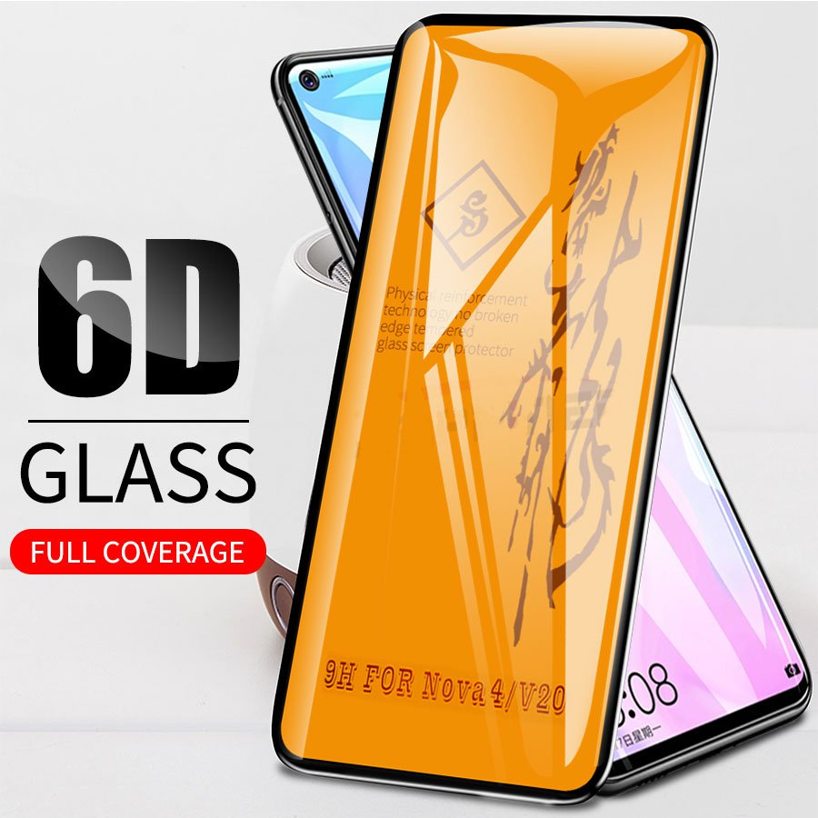 6D Full Glue Cover Tempered <font><b>Glass</b></font> For <font><b>Huawei</b></font> <font><b>P30</b></font> Honor 10 Play View 20 Nova 3 3i Mate 20 P20 Lite <font><b>Pro</b></font> Y9 2019 Screen <font><b>Protector</b></font> image