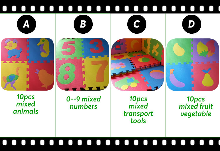 HTB1TM qbv5TBuNjSspmq6yDRVXaT 10PCS Pack Baby Puzzle Mat Baby Play Mat Floor Puzzle Mat EVA Children Foam Carpet Mosaic Floor Play Mats 4 Style PX10