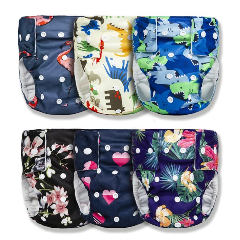 Hotsale Baby Nappies Diaper Reusable Cloth Diapers Nappy Cover Waterproof  Newborn Baby Traning Panties Washable Diapers Pocket