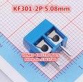 Frete Grátis 100 pcs envio KF301-2P KF301-5.0-2P KF301 2Pin 5.08mm Plug-in Parafuso