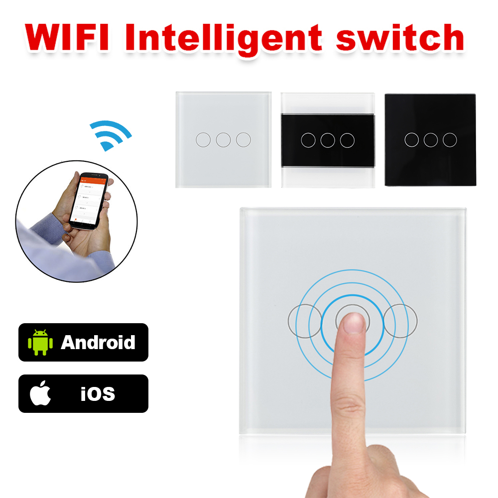 New Smart Home Led Lamp Remote Control Wifi Wireless Light Touch Switch 3 Way Automation Glass Panel In From Consumer