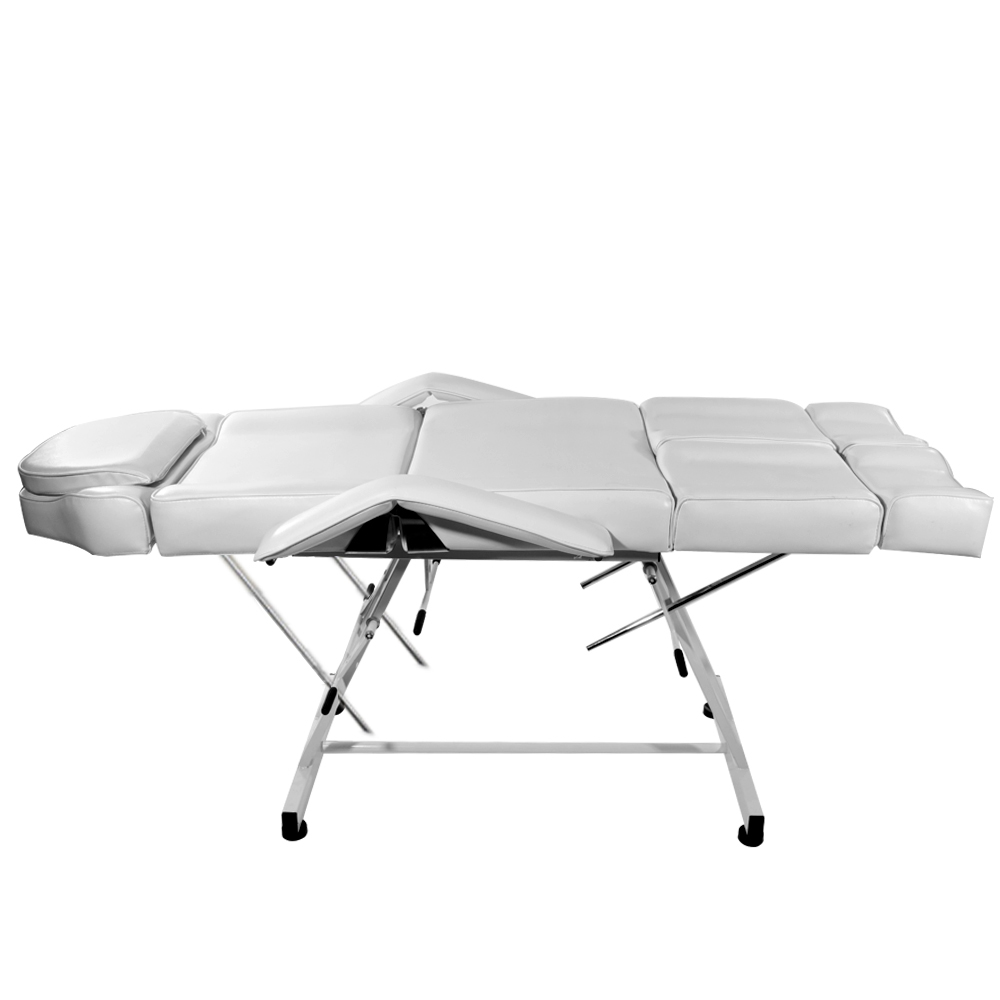 Купить с кэшбэком Panana Professional Massage Bed Chair Facial Beauty Barber Couch Bed Stool For Tattoo Therapy Salon Removable Cushion White