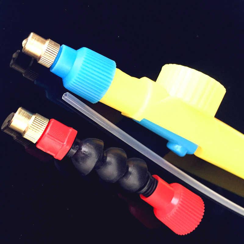 1 pcs interface de garrafa de coque plástico trole gun bico manual spray de rega cabeça opcional 360 graus bocal interface 26mm
