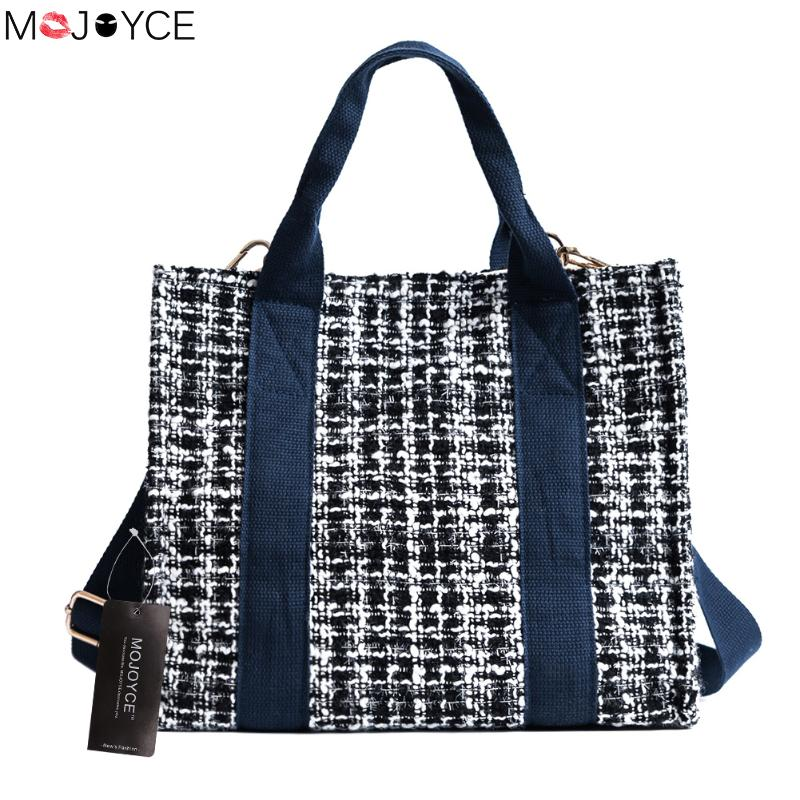 Autumn Crossbody Bag Canvas Knitted Messenger Handbag Handbags Bags Designer