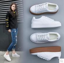 Mujeres Oxfords Pisos Zapatos de Cuero de Encaje Hasta Zapatos de Plataforma Mujer 2017 Marca Moda Mujer Casual Creepers Blanco Zapatos de Las Señoras