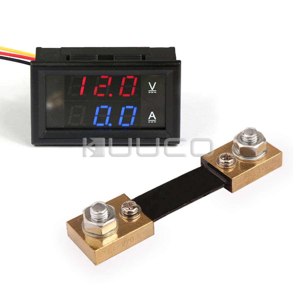 Hot Sale 2in1 Digital Meter Dc 4530v 100a Dual Display Voltmeter Want To Wire In An Ampmeter A 12v Landrover Ammeter 24v Current Voltage Resistive Shunt