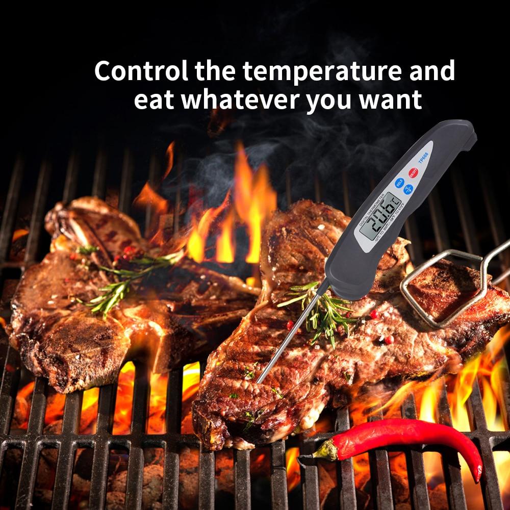 Vente chaude Numérique Pliage Alimentaire Thermomètre Température Me