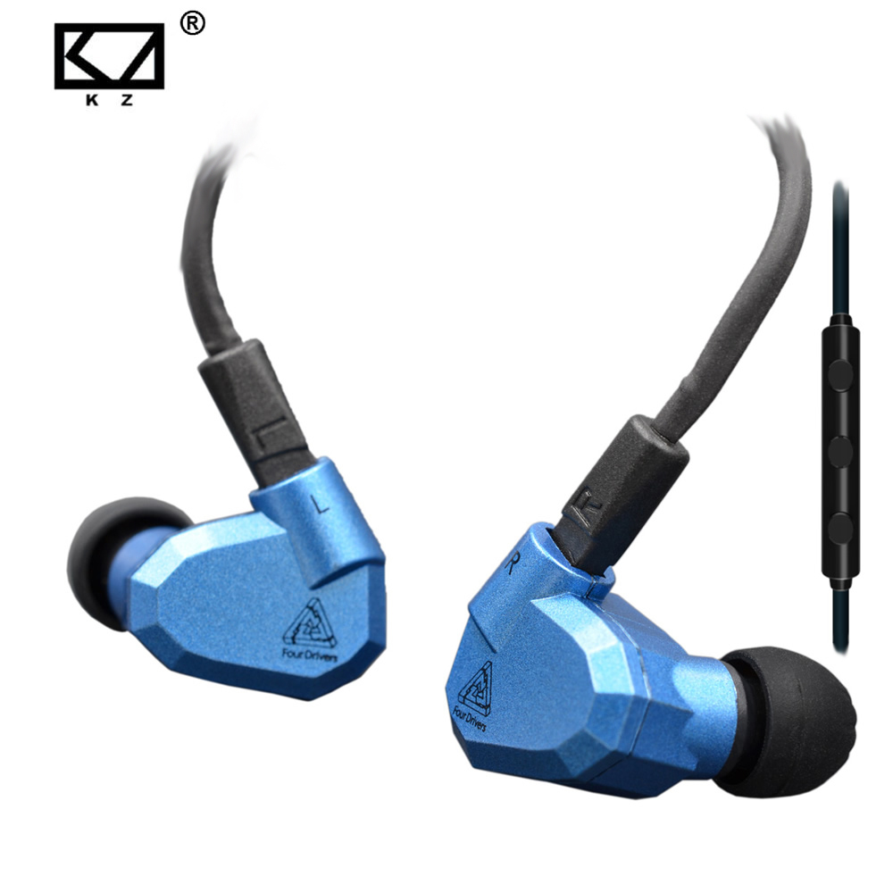Original KZ ZS5 2DD+2BA Hybrid In Ear Earphone HIFI DJ Monito Running Sport Earphones Earplug Headset Earbud Two Colors kz ates ate atr hd9 copper driver hifi sport headphones in ear earphone for running with microphone game headset