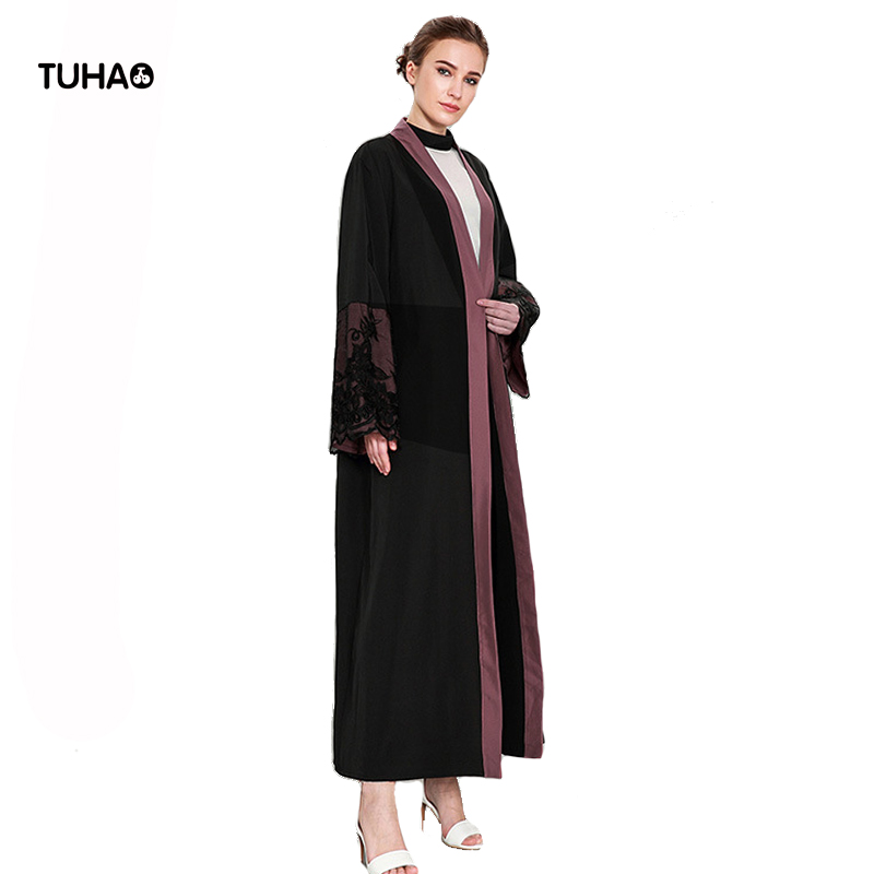 TUHAO Lace Appliques Casual   Trench   Coat For Women High Waist Cardigan Robe Femme X Long Coats Fashion Casual Outerwear TB1589