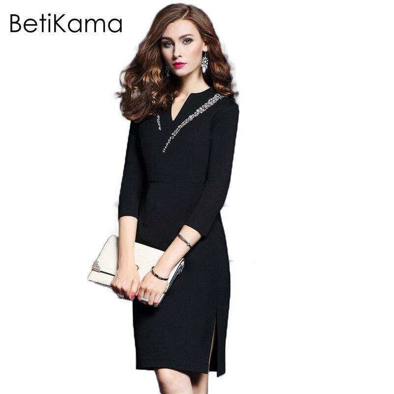 Betty Karma Womens Spring Sexy &Club Pencil Dress Ladies Elegant Special Occasions Bodycon Diamonds Evening Party Pencil Dresses
