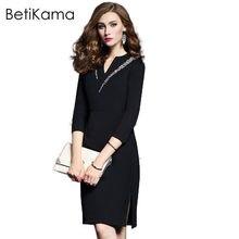 fb459267a Betikama Womens Spring sexy Club lápiz vestido damas elegante ocasiones  especiales bodycon diamantes noche partido lápiz