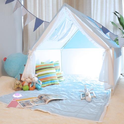 comprar azul carpa casa de juegos carpa tiendas de campaa para nios algodn nio pequeo saco de dormir carpa casa de tent house toy