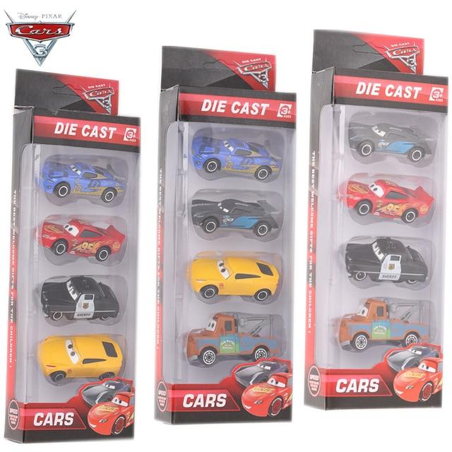 Us 11 7 40 Off 4 Teile Satz Disney Pixar Autos 3 Metall Schwarz Storm Jackson Auto Spielzeug Kinder Geburtstag Weihnachten Blitz Mcqueen Auto
